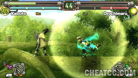 naruto ultimate ninja heroes 2 psp gameplay